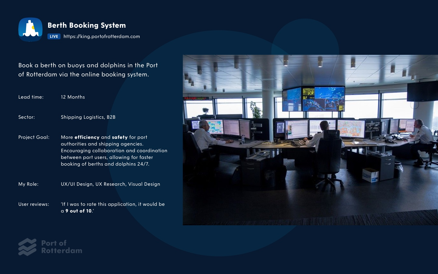 Port of Rotterdam - Project King - Booking system